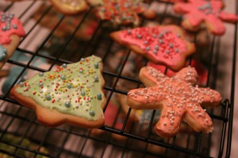 Alguns dos cookies de Natal prontinhos!