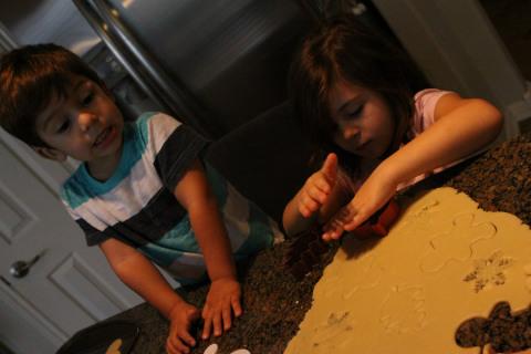 Cortando os biscoitos