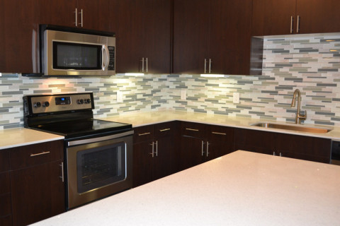 Cozinha do apartamento modelo