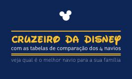 Cruzeiro da Disney: comparação dos navios