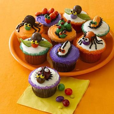 Cupcakes decorados para o Halloween