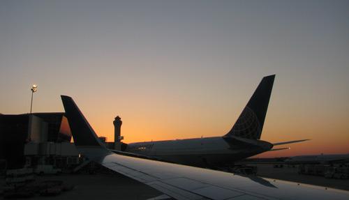 Da janela do avião no vôo de Seattle pra Austin