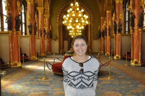 Eu no Parlamento Húngaro