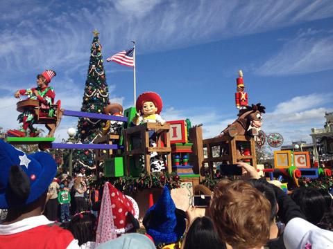 Um pedacinho do desfile da Natal, infelizmente não conseguimos pegar um lugar bom