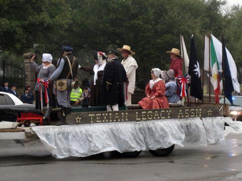 Desfile comemorativo da independência do Texas aqui em Austin