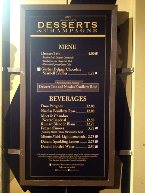 Opções da Desserts and Champagne