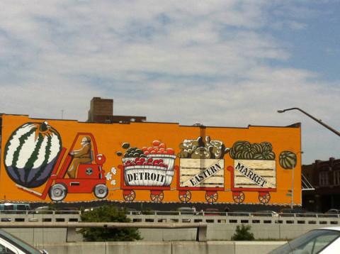 O colorido Eastern Market em Detroit