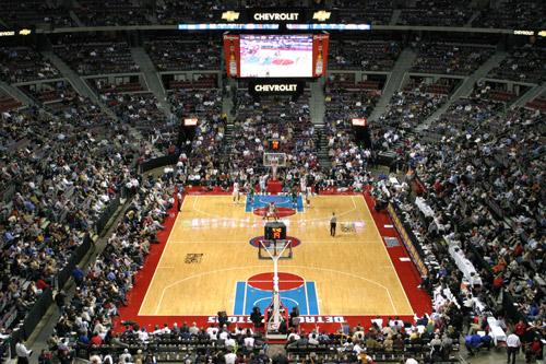Jogo do Detroit Pistons no Palace de Auburn Hills