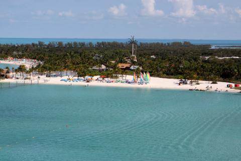 Dia perfeito em Castaway Cay, a ilha da Disney