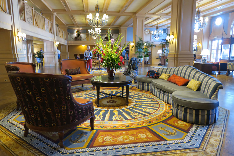 Mais um pedaço do lobby no Disney's Yacht Club Resort