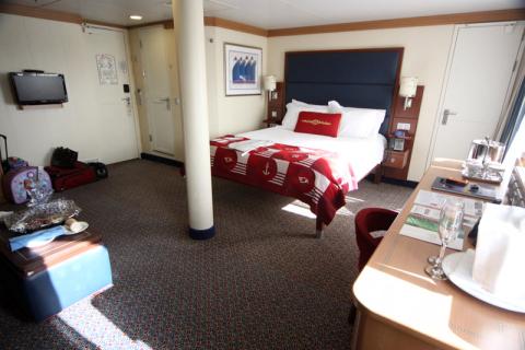 Outro ângulo da nossa cabine Deluxe Family Oceanview no Disney Dream