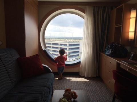 Nossa cabine era uma Deluxe Oceanview no deck 7