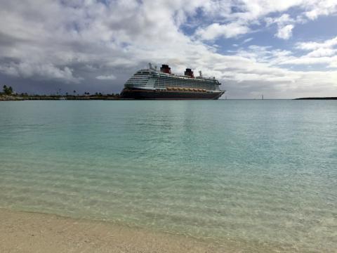 O Disney Dream em Castaway Cay