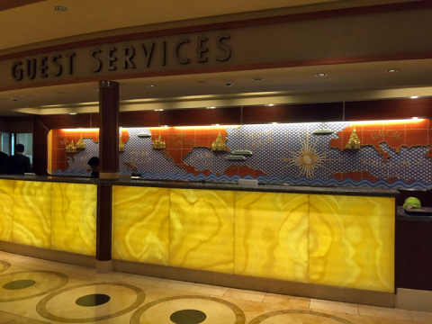 "Guest Services, a ""recepção"" do navio"