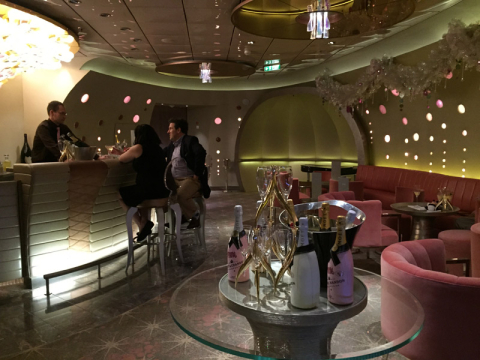 Disney Dream Pink Champagne Bar