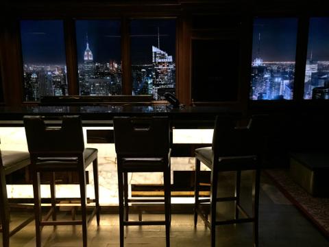 Skyline bar no Dream: as cidades vão mudando