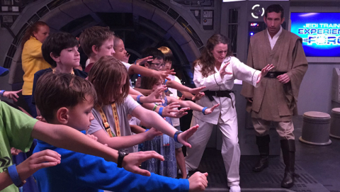 Treinamento Jedi no Oceaneer Club do Disney Dream