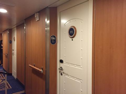 O nosso corredor secundário no Disney Fantasy