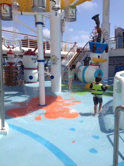 Área splash no Disney Magic