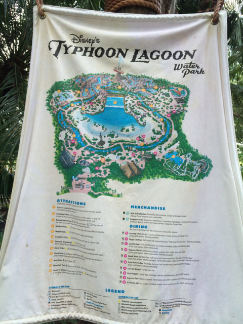 Mapa do parque Typhoon Lagoon na Disney