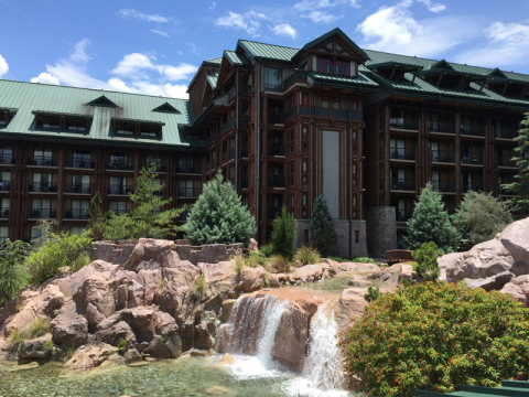 O Wilderness Lodge na primavera de 2015
