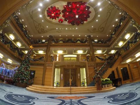 O novo lobby do Disney Wonder, foto: Luciana Misura