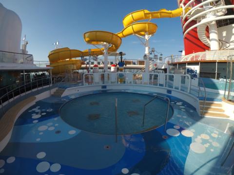 Nova piscina infantil e Aqualab no Disney Wonder, foto: Luciana Misura
