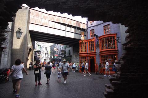 Entrando em Diagon Alley, como nos filmes