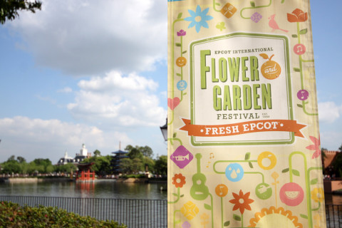 Chegando no Epcot International Flower and Garden Festival 2015 (eu entrei pelo World Showcase)