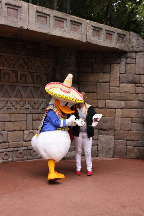 O Pato Donald tira fotos no México
