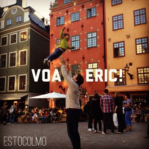 Voando alto em Estocolmo - ele adora