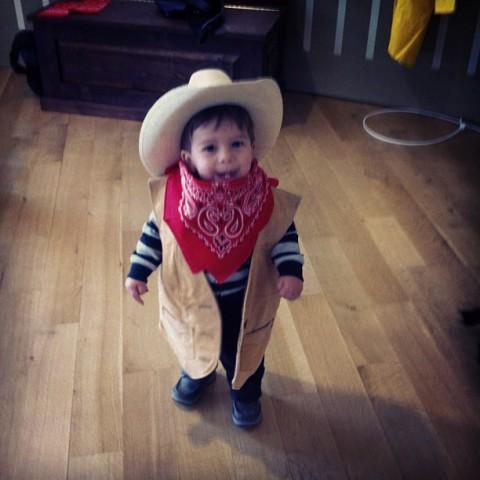 Vestido de cowboy em um museu no Novo México