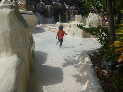 """Eric adorou esses """"castelos de areia"""""""