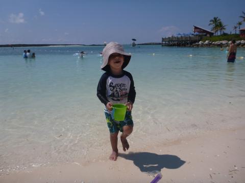 Eric curtindo a praia