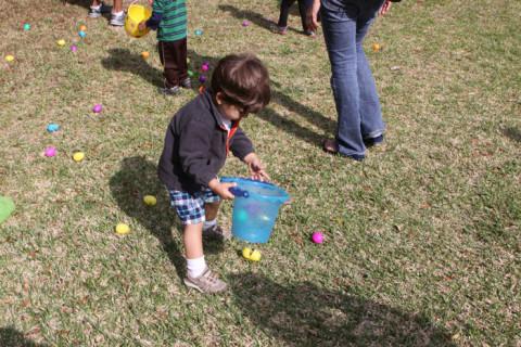 Eric conferindo quantos ovos pegou