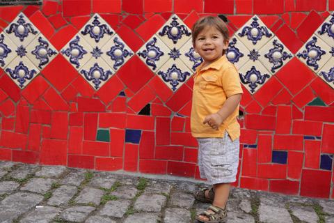 """Eric gostou do colorido da Escadaria Selarón, foto de Gustavo """"Camarão"""" Bordallo"""