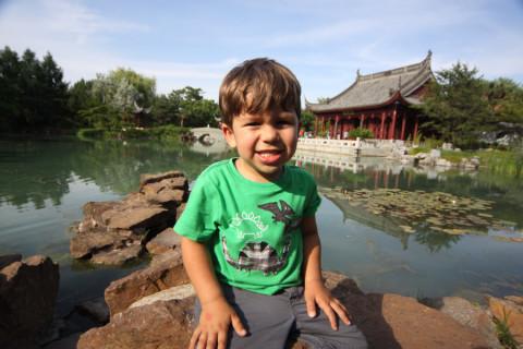 Eric no Jardim Chinês