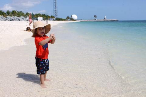 Eric na praia em Key West: essa dava pra ir andando