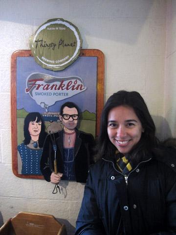Depois que você entra no restaurante ainda tem uns bons 30 minutos de fila pela frente...eu e o casal Franklin.