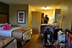 hotel bom e barato em orlando - extended stay america quarto e cozinha