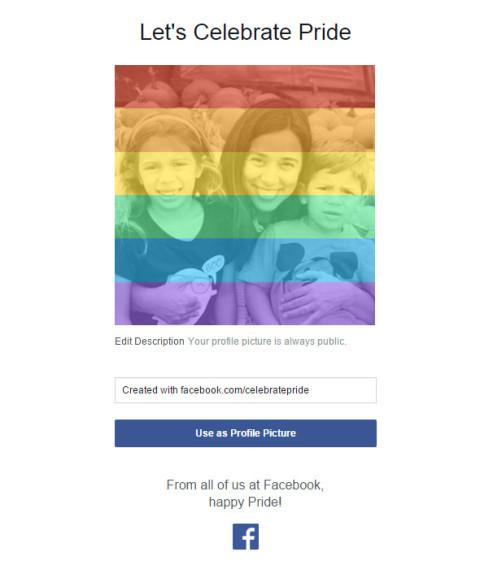 O Facebook disponibilizou uma ferramenta pra quem quer colorir a sua foto de perfil #MarriageEquality