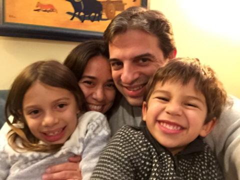 Selfie de Ano Novo, meia-noite, Feliz 2016!