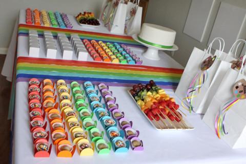 A mesa arco-íris