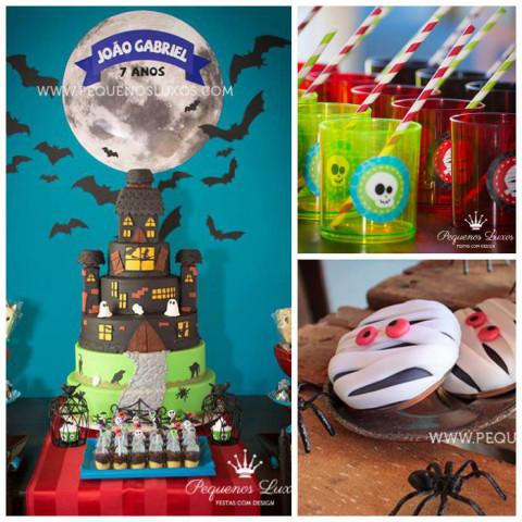 Festa de Halloween brasileira, bolo espetacular!