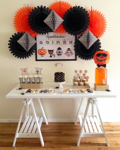 Festa de Halloween Hipster, básica e bonita