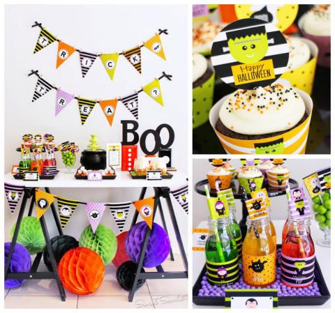 Festa de Halloween Trick or Treat: monstrinhos simpáticos