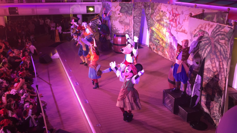 Festa dos Piratas no Disney Dream - parte 1