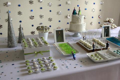 O lado verde (Anna) da mesa