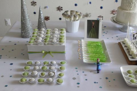 O lado verde (Anna) da mesa...