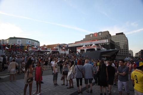 Final do dia em Montréal, entre um show e outro do Festival de Jazz